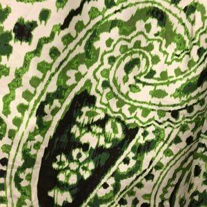 Banana Republic Tops - Banana Republic Green & White Silk Blouse, Size XL